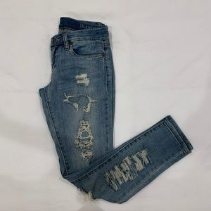 Urban Outfitters Blue Wash Denim Jeans - Ripped